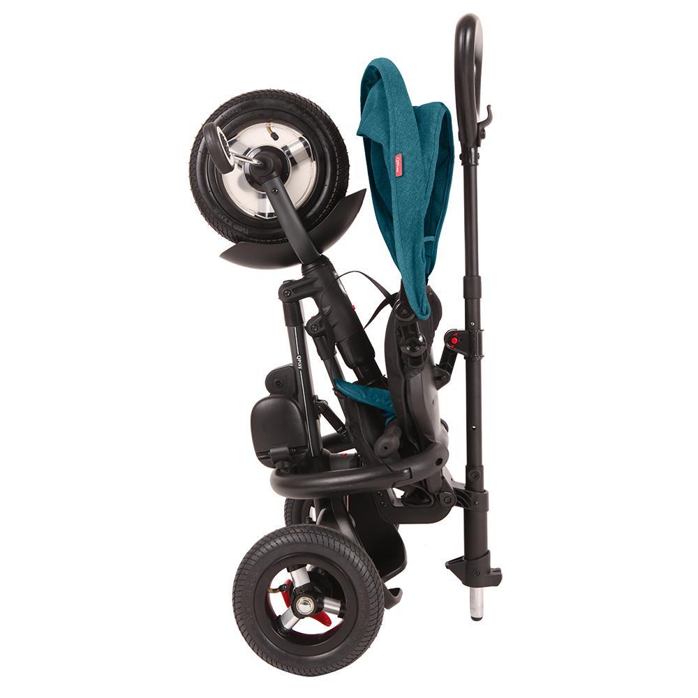 Tricicleta Cu Roti Gonflabile De Cauciuc Qplay Rito Air Albastru Deschis [7]