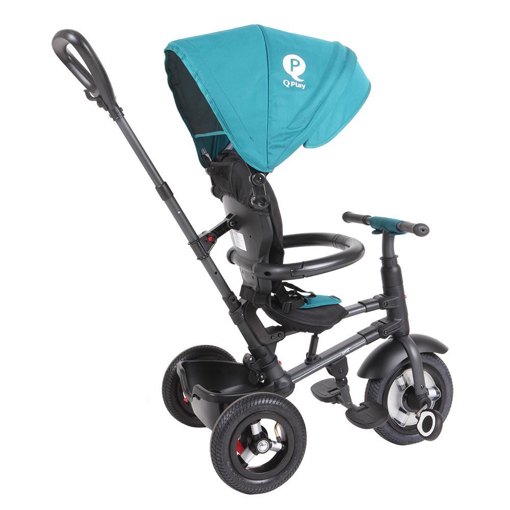 Tricicleta Cu Roti Gonflabile De Cauciuc Qplay Rito Air Albastru Deschis [5]