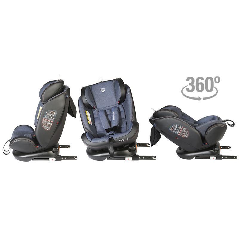 Scaun auto rotativ cu Isofix grupa 0-36 kg Nova Jeans [45]